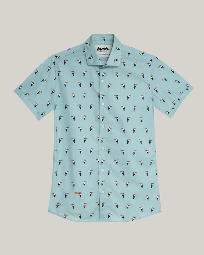 Tropical tucan printed shirt - Brava Fabrics num 2