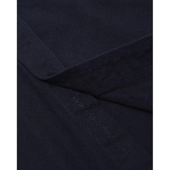 Surchemise manches longues marine effet moleskine en coton bio - Knowledge Cotton Apparel num 2