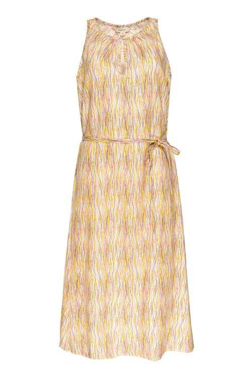 Robe longue motif jaune et rose en tencel - agatha - People Tree num 5
