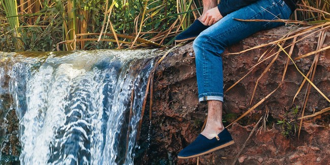 Chaussures recyclées sequoia navy - Saola num 1