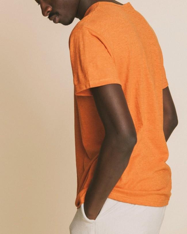 T-shirt terracotta en chanvre et coton bio - Thinking Mu num 1