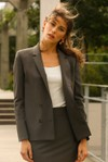 Veste tailleur boston taupe - 17h10 - 1
