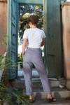 Pantalon krabe vichy marine - Les Récupérables - 2