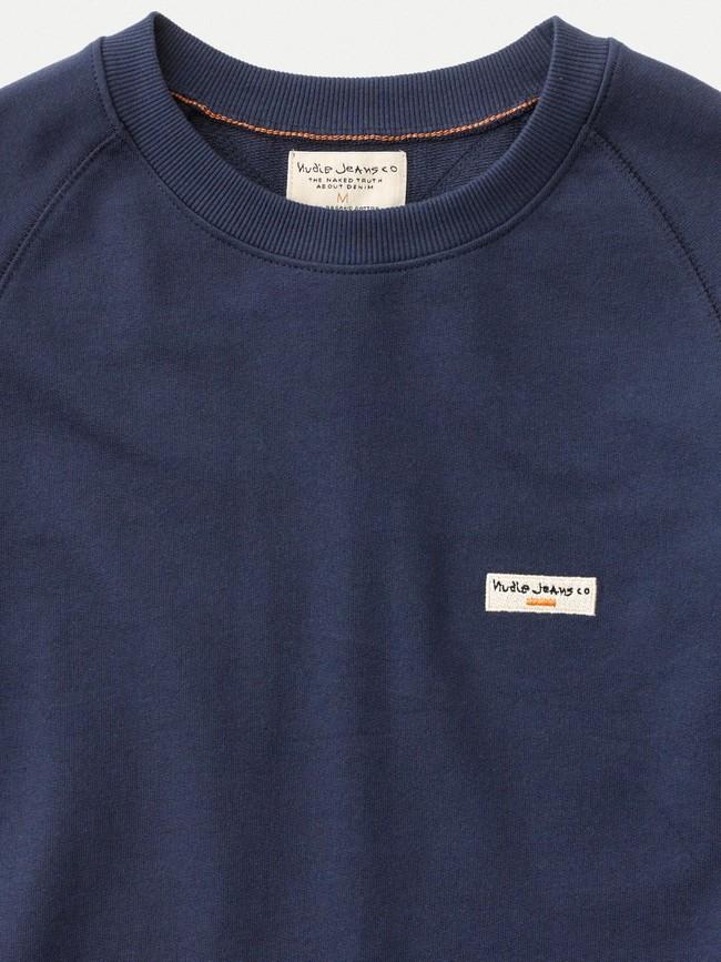 Sweat bleu en coton bio - samuel - Nudie Jeans num 3