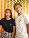 T-shirt brodé blanc en coton bio - piments - Johnny Romance - 1