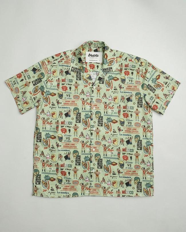 Lucha libre aloha shirt - Brava Fabrics num 1