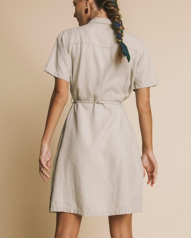 Robe beige en chanvre, tencel et coton bio - karen - Thinking Mu num 2