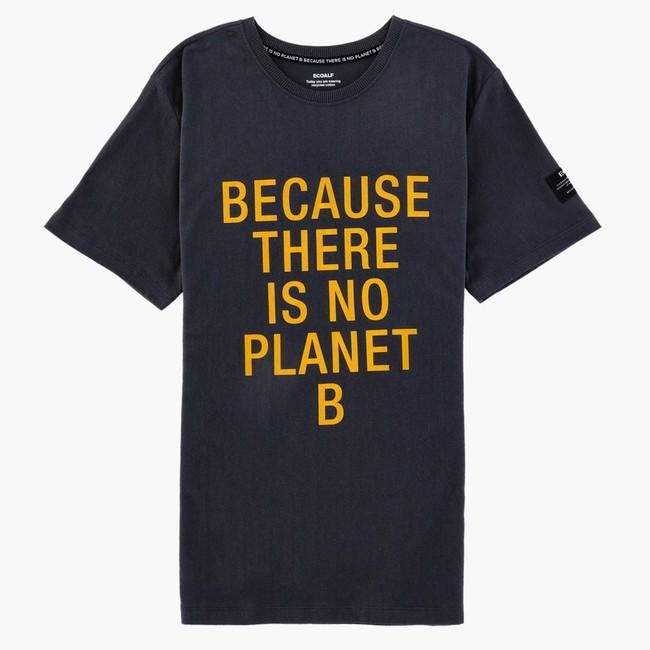 T-shirt gris imprimé jaune en coton bio - natal classic because - Ecoalf num 4
