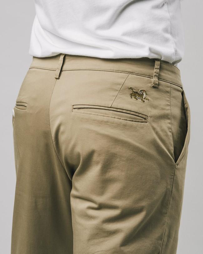 Pleated chino pants beige - Brava Fabrics num 1