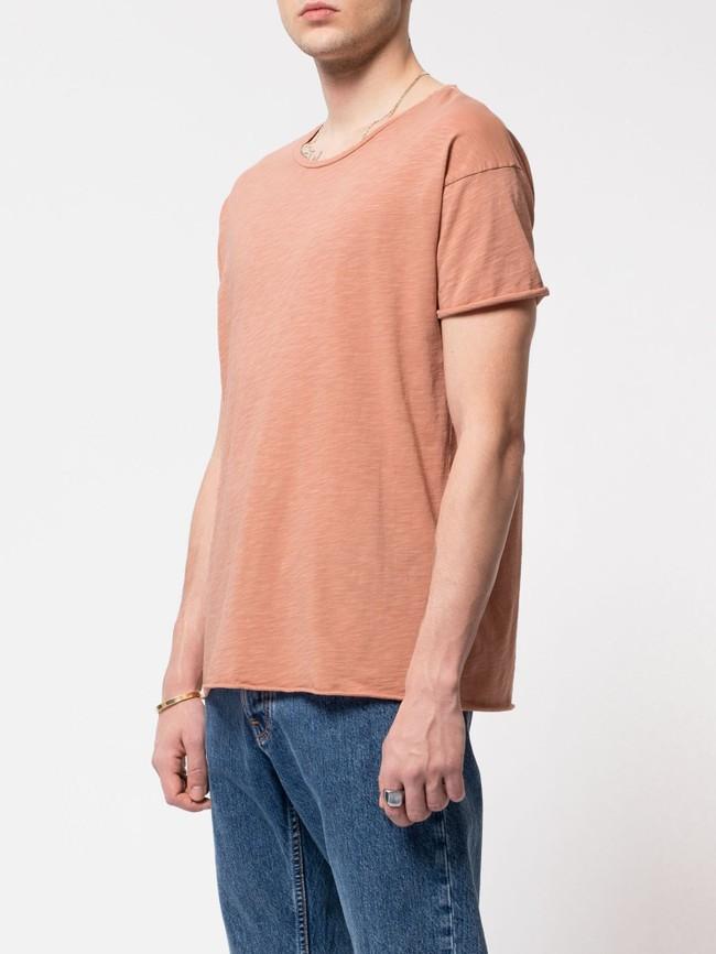 T-shirt ample pêche en coton bio - roger - Nudie Jeans num 1