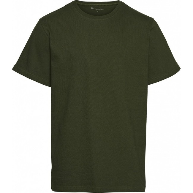 T-shirt ample vert forêt en coton bio - Knowledge Cotton Apparel
