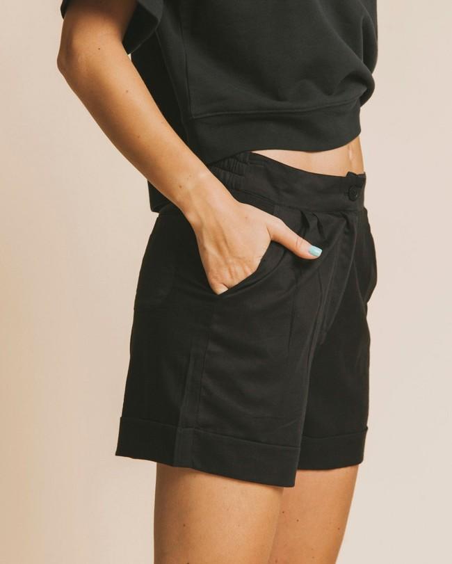 Short noir en coton bio - mamma - Thinking Mu num 3