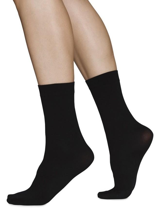 Chaussettes hautes 60 deniers noires recyclées - ingrid - Swedish Stockings