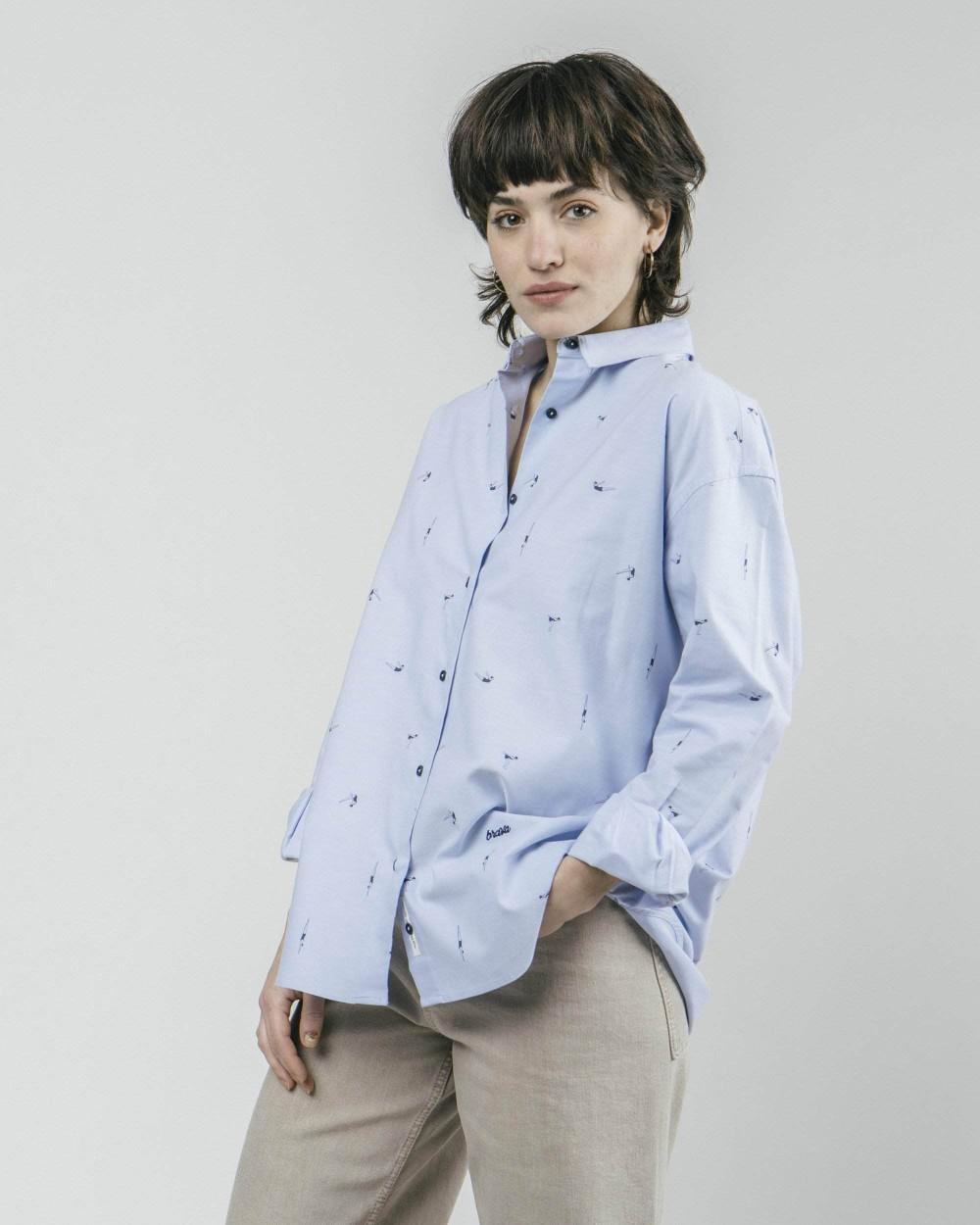 Vintage swimmer oversized blouse - Brava Fabrics