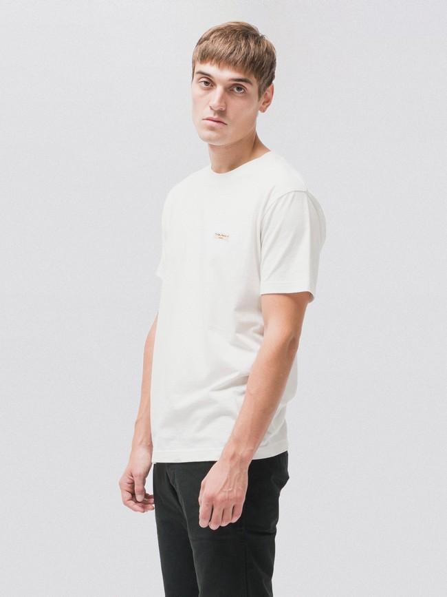T-shirt blanc en coton bio - daniel - Nudie Jeans