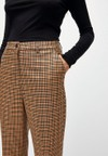 Pantalon à pinces carreaux marron en tencel - herttaa check - Armedangels - 4