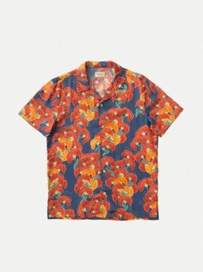 Chemise manches courtes à fleurs en coton bio  - arviid - Nudie Jeans num 7