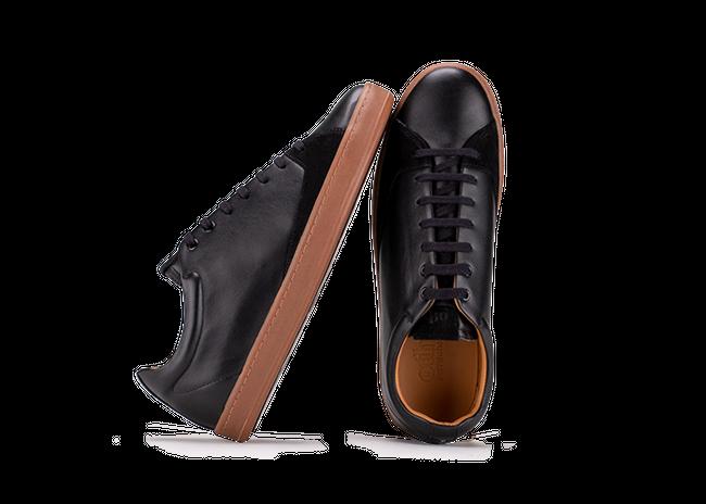 Chaussure en gravière cuir noir / semelle miel - Oth num 1