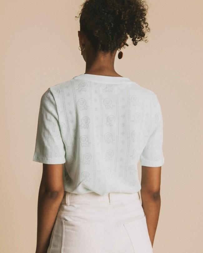 T-shirt bleu ciel en tencel et coton bio - mara - Thinking Mu num 3