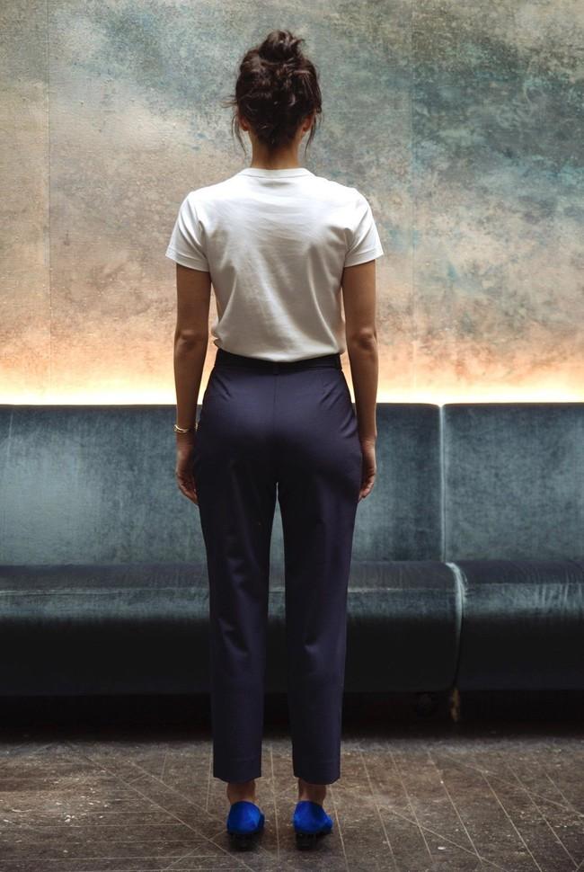 Pantalon tailleur casablanca navy - 17h10 num 1