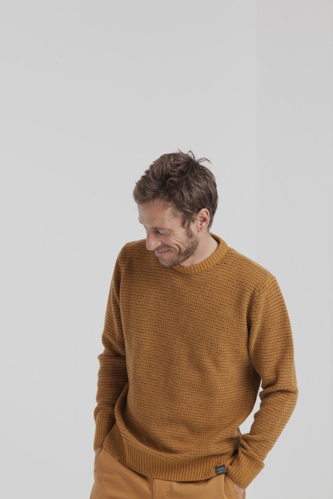 Pull marron en laine fine - miki - Thinking Mu