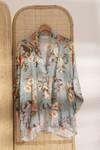 Kimono cassis // imprimé fleurs - Bagarreuse - 3