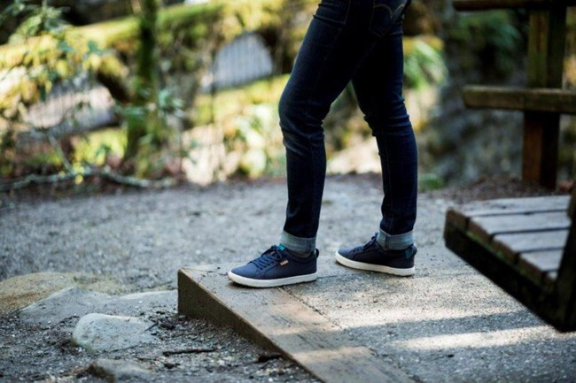 Chaussures recyclées cannon femme blue night - Saola num 1