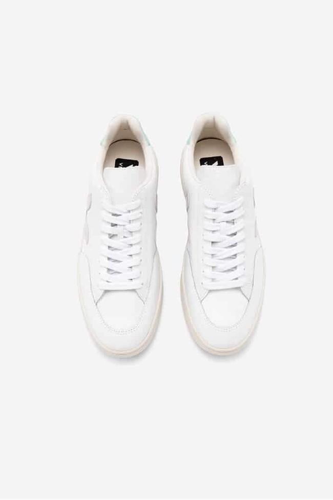 Baskets v-12 extra white parme turquoise - Veja num 2