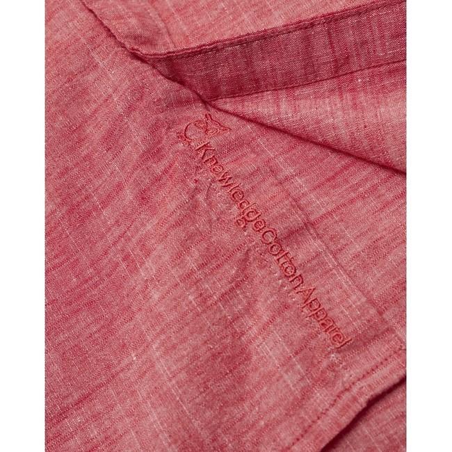 Chemise à manches courtes rouge en lin et coton bio - larch - Knowledge Cotton Apparel num 2