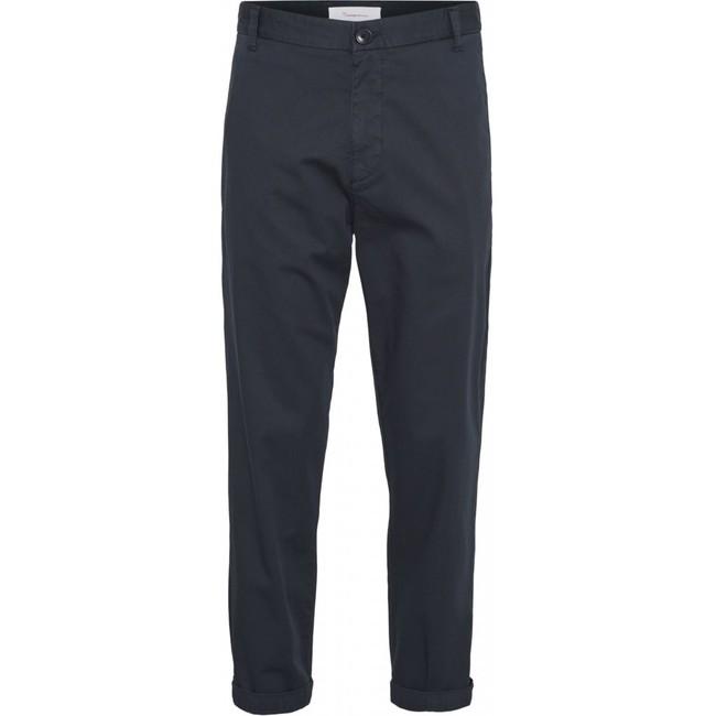 Chino court ample bleu nuit en coton bio - bob - Knowledge Cotton Apparel
