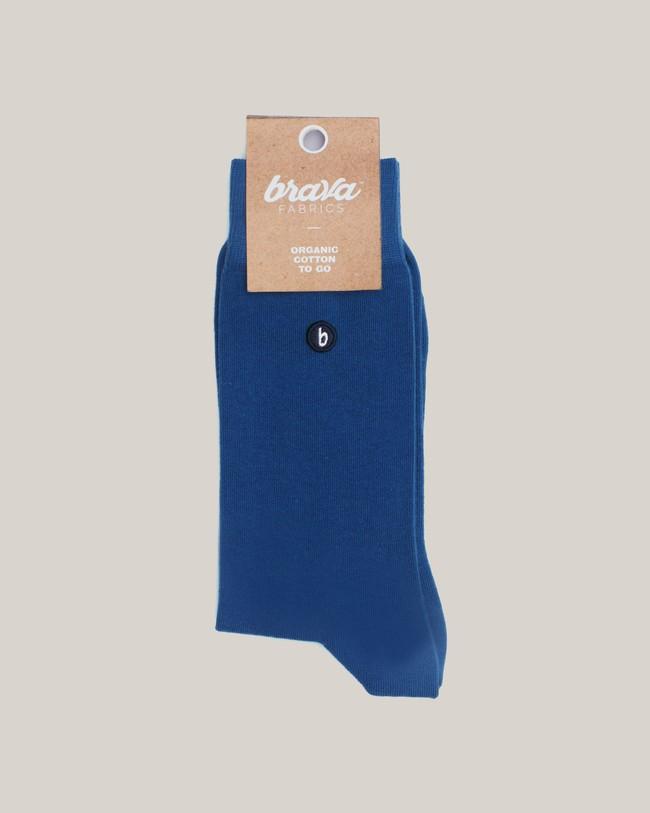 Organic cotton socks blue - Brava Fabrics
