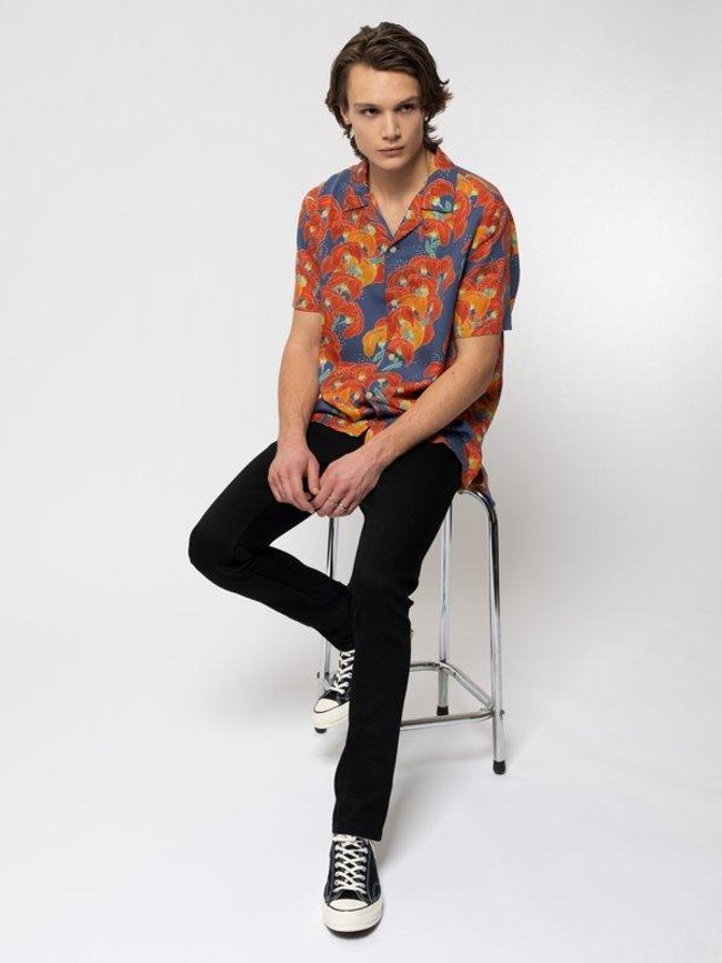 Chemise manches courtes à fleurs en coton bio  - arviid - Nudie Jeans num 6