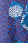 "Veste ""la redoutable"" motif wax non merci - Bleu Tango - 6"
