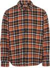 Surchemise à carreaux orange et marron en coton bio - pine - Knowledge Cotton Apparel - 4