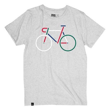 T-shirt gris motif vélo en coton bio - Dedicated num 2