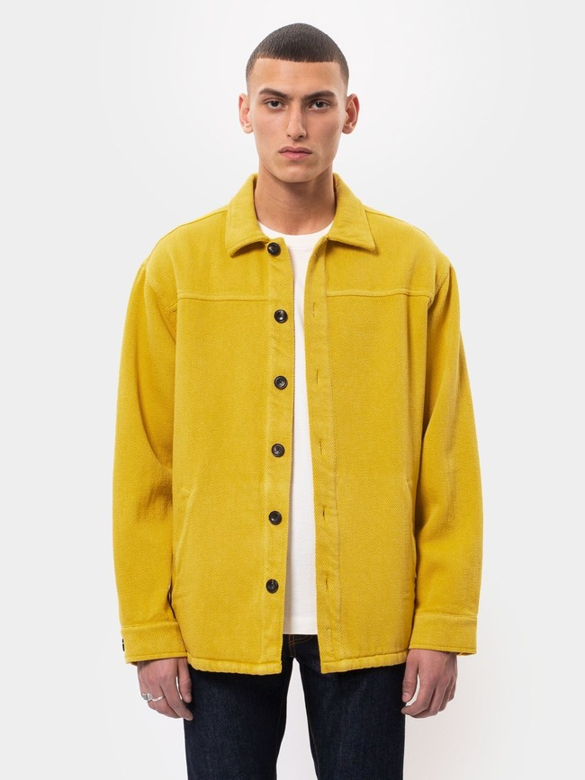 Surchemise jaune twill en coton bio - elias - Nudie Jeans