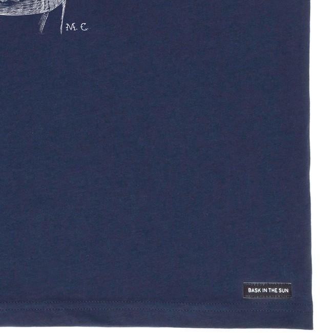 T-shirt en coton bio navy walrus - Bask in the Sun num 3