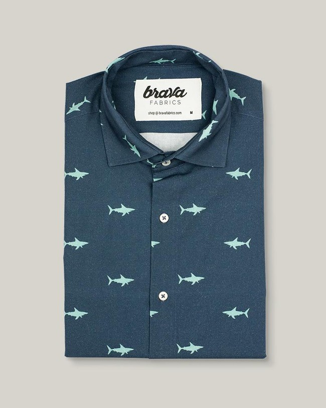 Sharks printed shirt - Brava Fabrics num 1