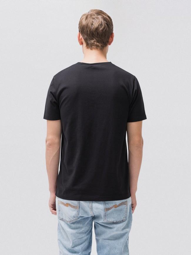 T-shirt noir en coton bio - daniel - Nudie Jeans num 2