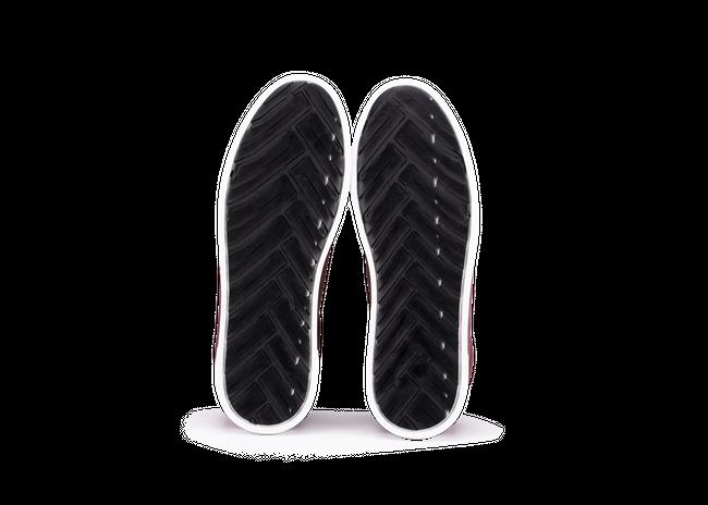 Chaussure en gravière suède bordeaux / semelle blanc - Oth num 4