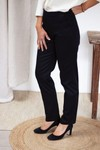 Le charmant - pantalon cigarette en coton noir - C. Bergamia - 1