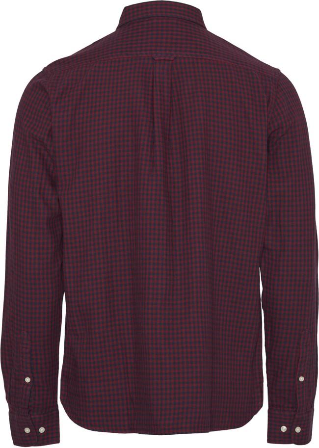 Chemise violette à carreaux en coton bio - larch - Knowledge Cotton Apparel num 1