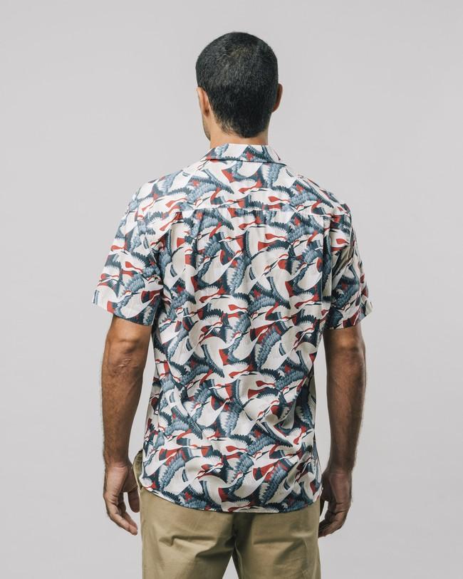 Crane for luck aloha shirt - Brava Fabrics num 5