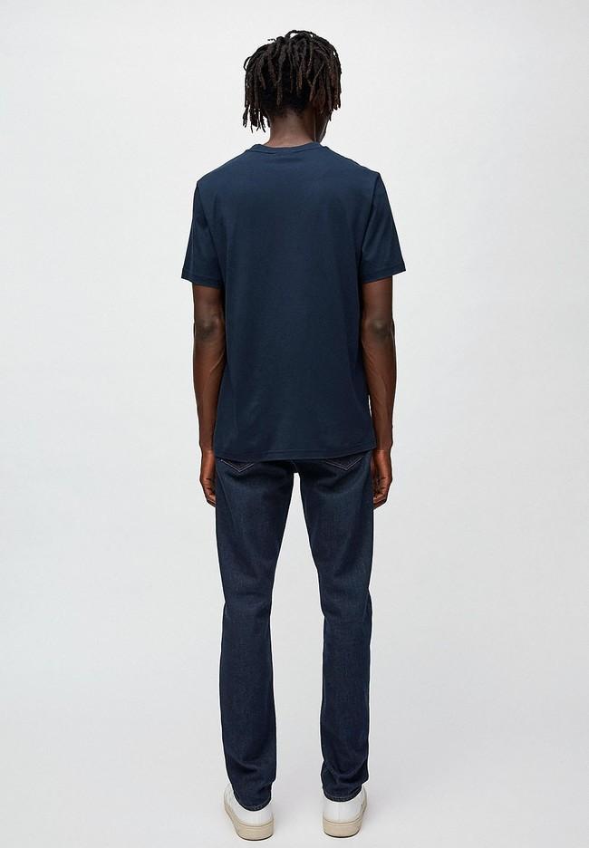 T-shirt marine en coton bio - jaames nature - Armedangels num 3
