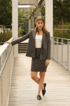 Veste tailleur boston taupe - 17h10 - 3