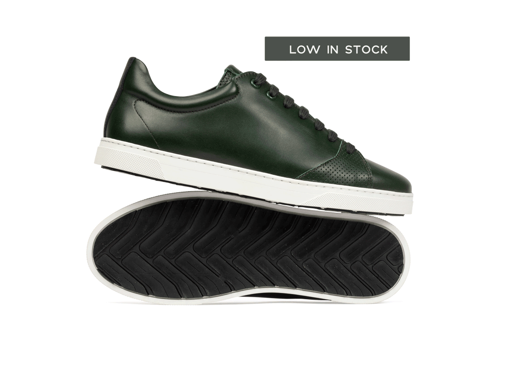Chaussure en gravière cuir vert sapin - Oth