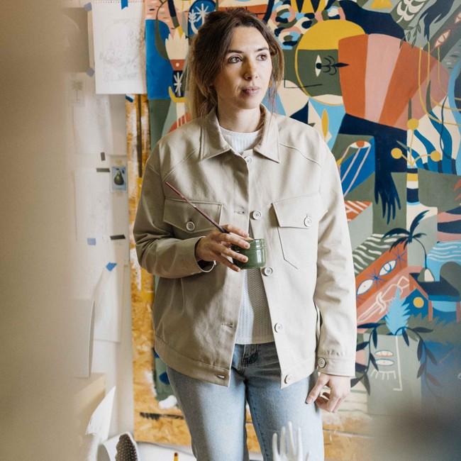 Veste recyclée - la veste authentique beige - Hopaal num 1