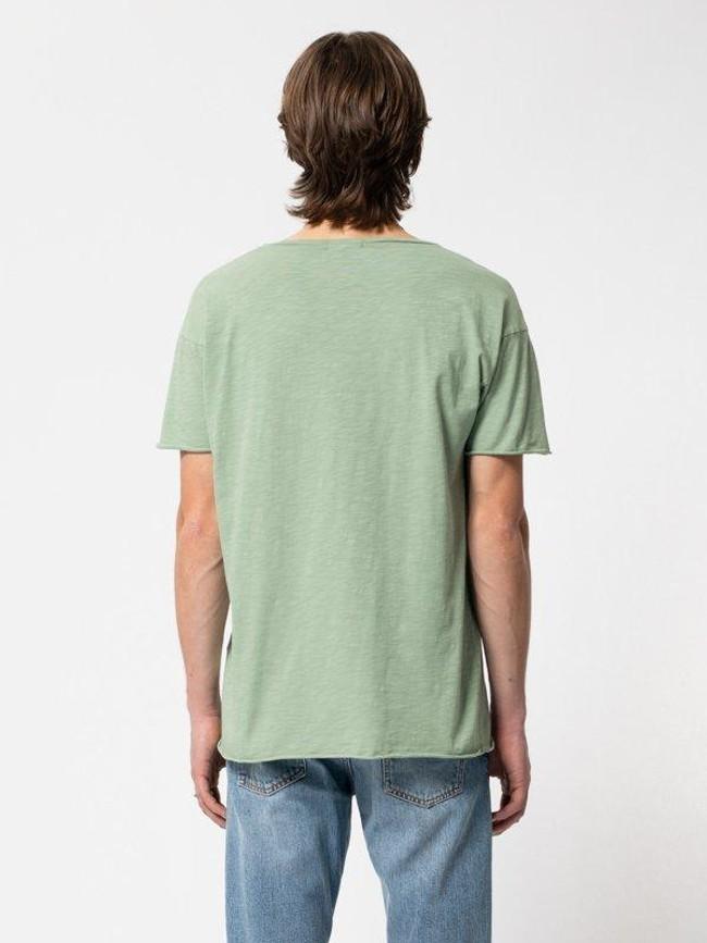 T-shirt vert en coton bio - roger - Nudie Jeans num 2