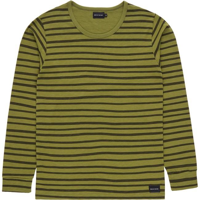 T-shirt en coton bio kaki esperanza ls - Bask in the Sun