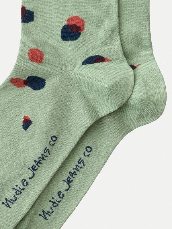 Chaussettes hautes vertes à pois - olsson - Nudie Jeans num 2